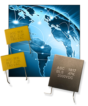 ASC Capacitors BLF (Board Level Filter) and BLS (Board Level Snubber) Capacitor Series