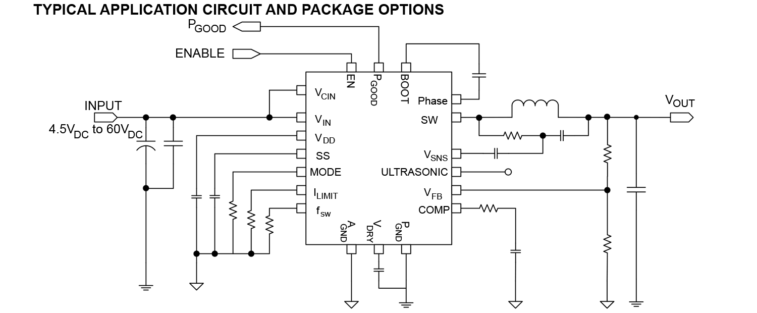 New Yorker Electronics Power Ic Capable Of Delivering Up To 75w Singlesupply Voltage Regulator Circuit Diagram Electronic Vishay Siliconix Sic462 45v 60v Synchronous Microbuck From