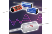Electrocube Audio-Optimized Film Capacitors in both the 916D Series of Metallized Polypropylene Capacitors and the 967D Polypropylene and Foil Audio Capacitors