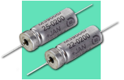 Exxelia Tantalum MIL 39006/22 and MIL 39006/25 wet tantalum capacitors from New Yorker Electronics